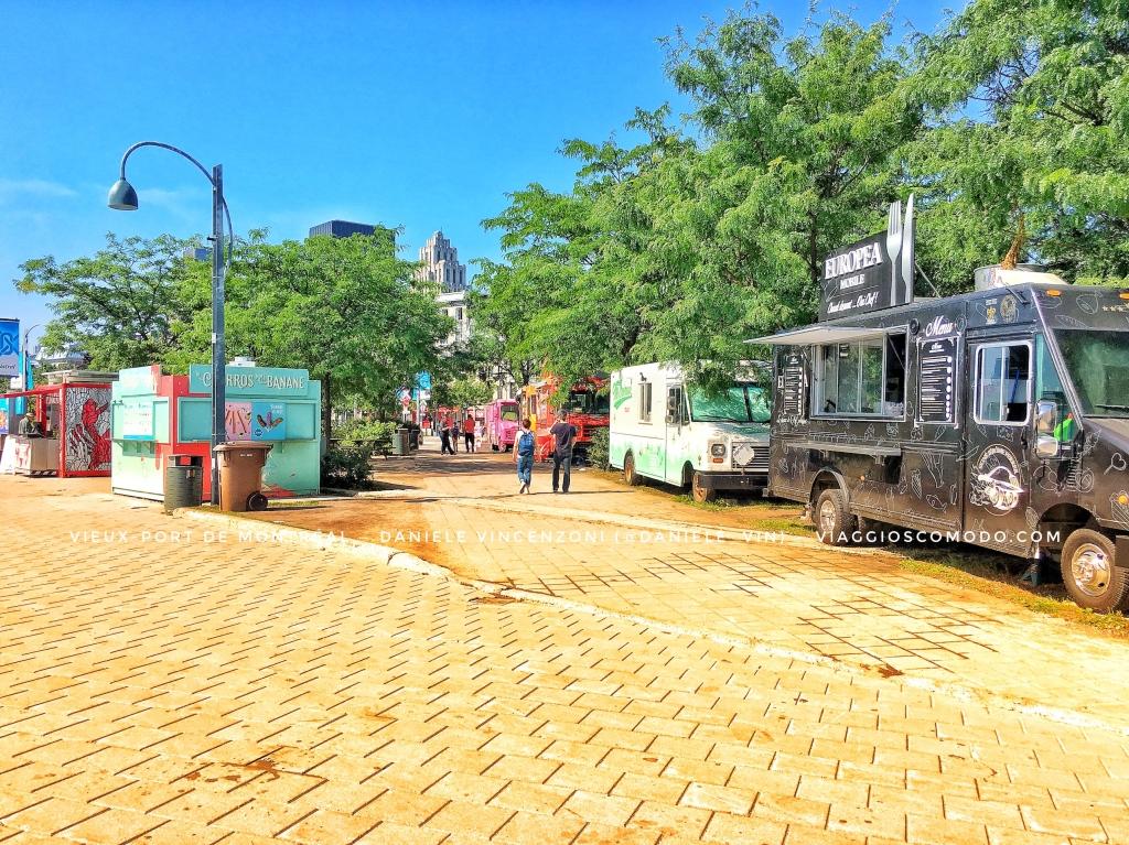 Vieux-Port de Montreal — Canada — Food truck